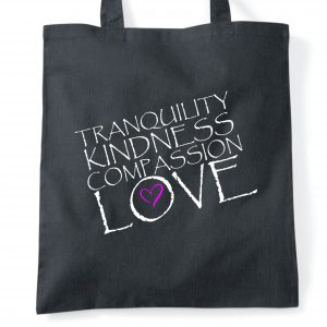 kindness and love tote bag