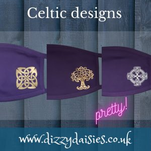 celtic design face mask