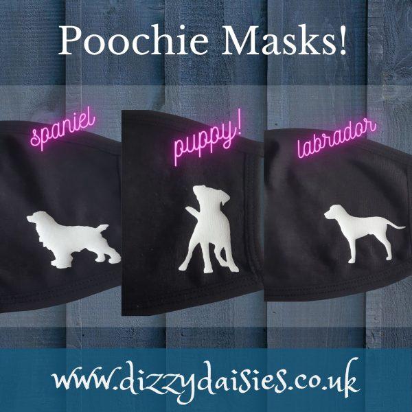 dog design face masks