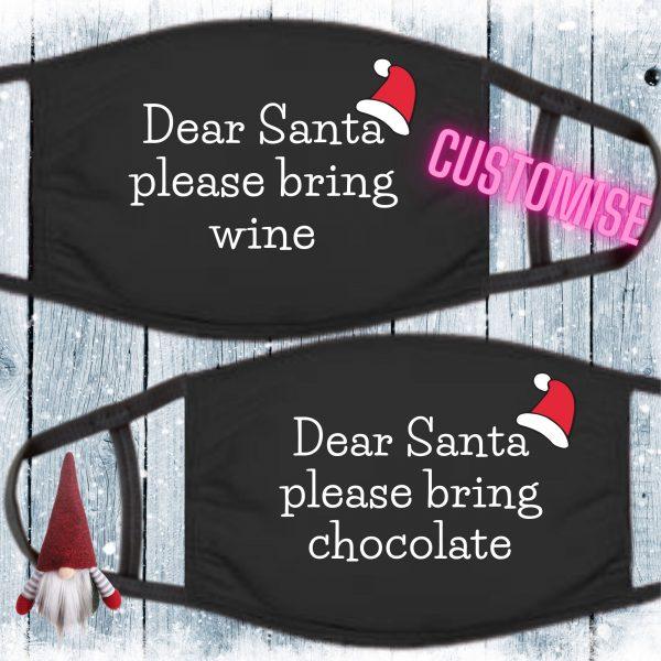 Dear Santa face mask