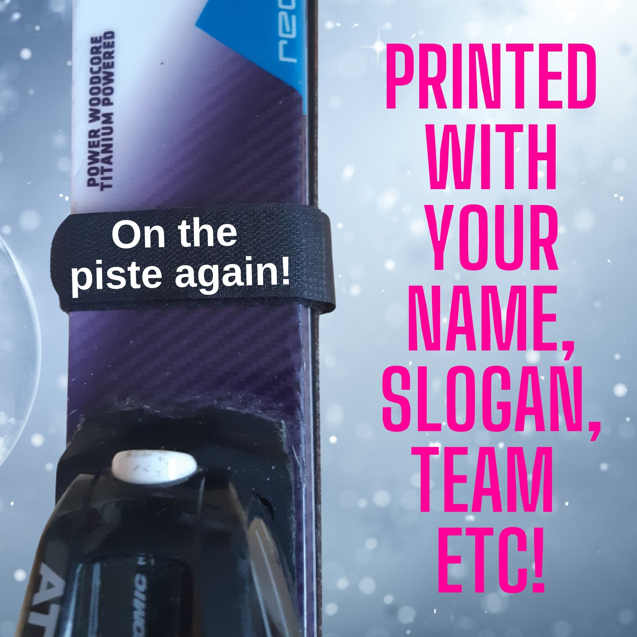 ski tie fonts