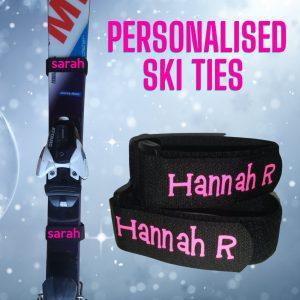personalised ski ties