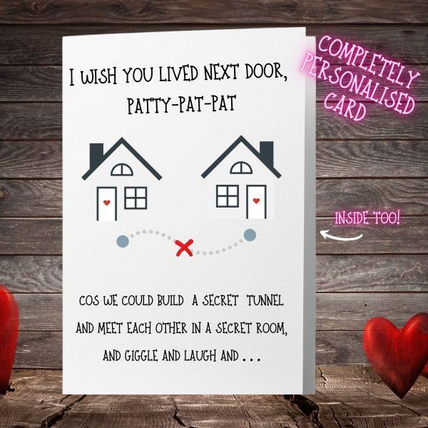 i wish you lived next door card