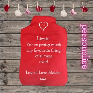 valentine hot water bottle