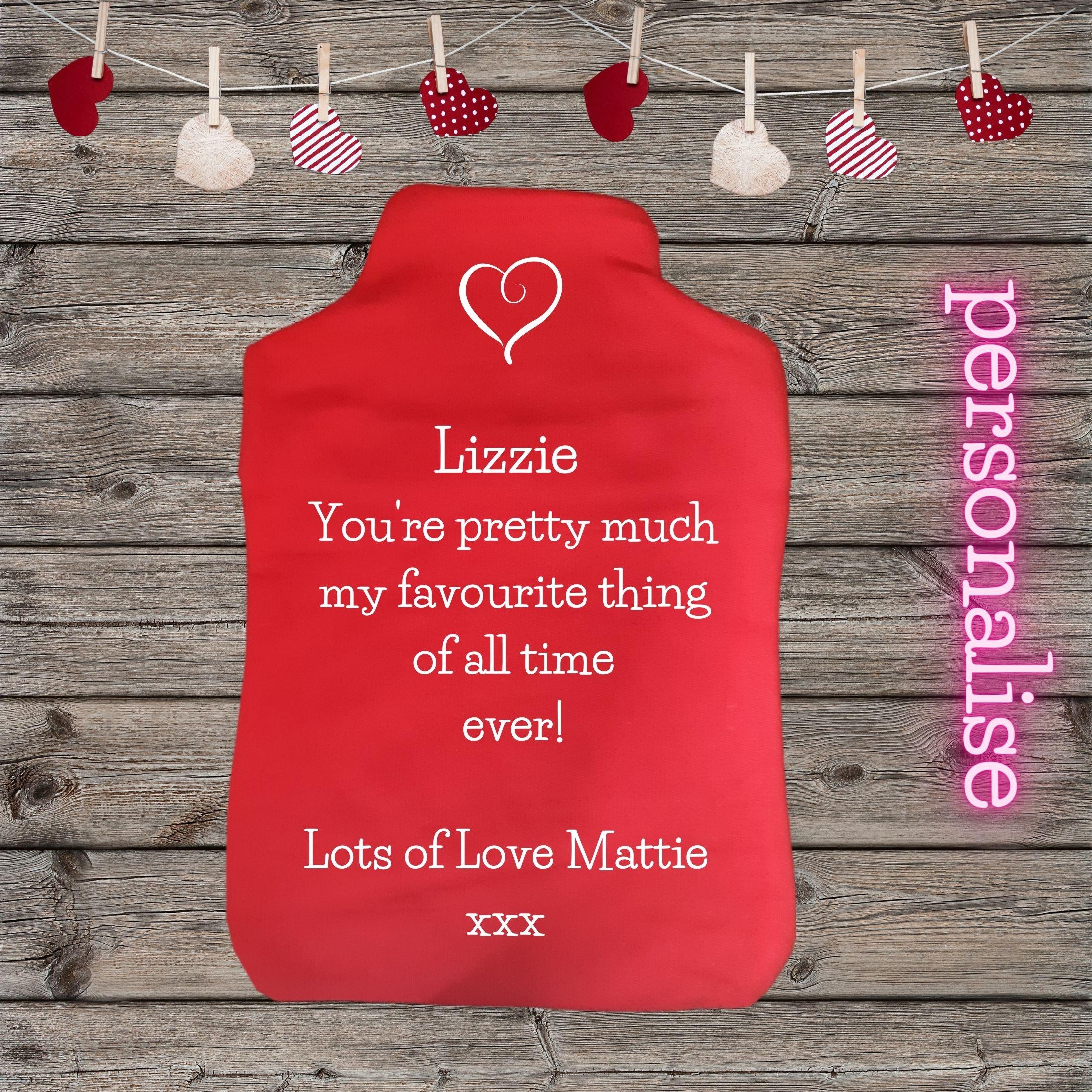 valentine hot water bottle