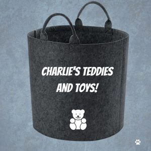 personalised teddy storage basket