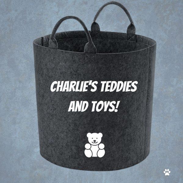 personalised teddy storage basket
