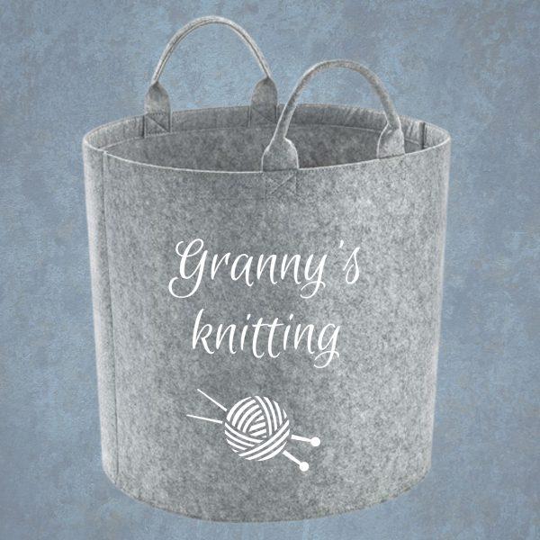 personalised grey storage basket