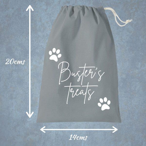 dog treat bag grey