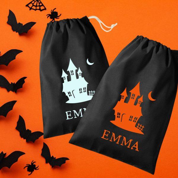 haunted house treat bag