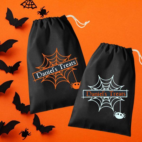 halloween cobweb treat bag