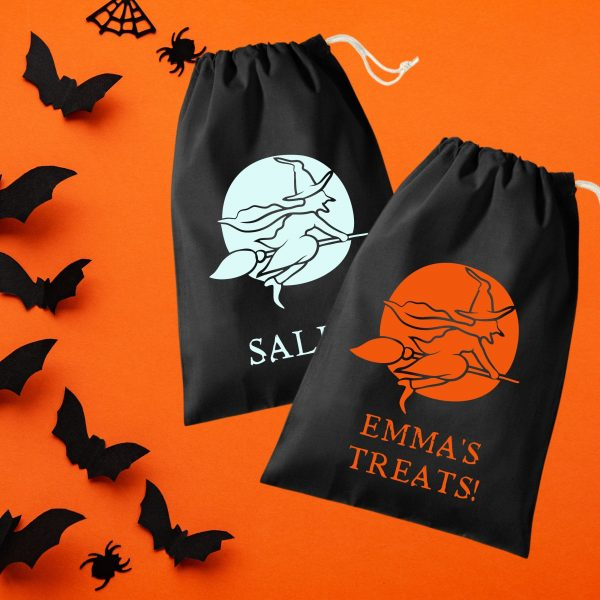 halloween treat bag witch broomstick