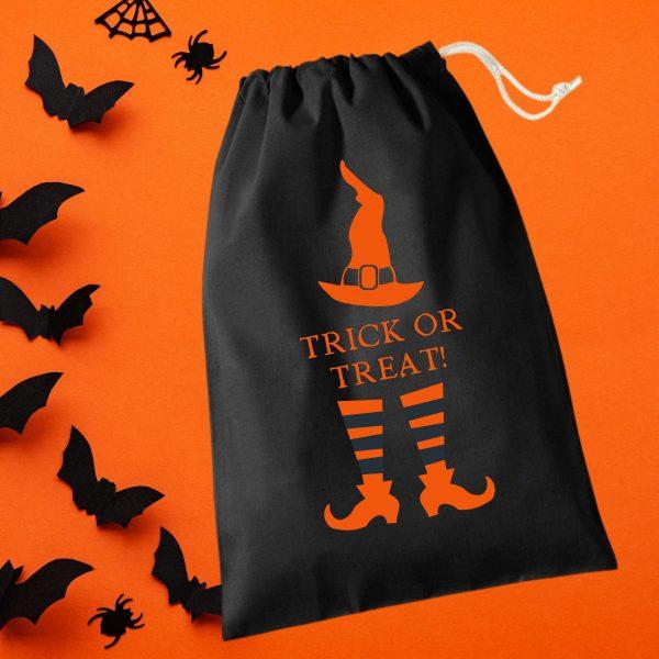 halloween treat bag witch